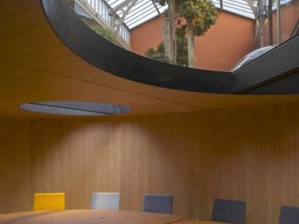 文艺棕色现代风格阳台吊顶装修效果图