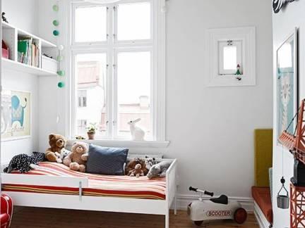 白色现代风格儿童房雅致榻榻米装修效果图