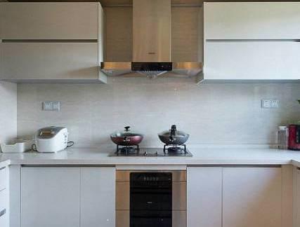 彩色现代风格厨房吊顶装修设计图