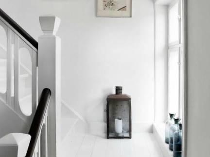 白色北欧风格阁楼楼梯装修美图