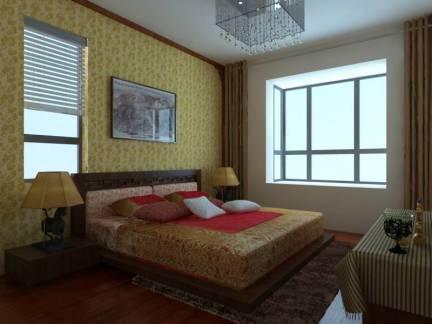 雅致彩色现代风格卧室榻榻米装修效果图