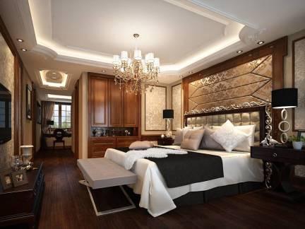欧式风格卧室白色吊顶装修美图