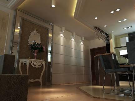 棕色华美现代风格餐厅吊顶装修图片