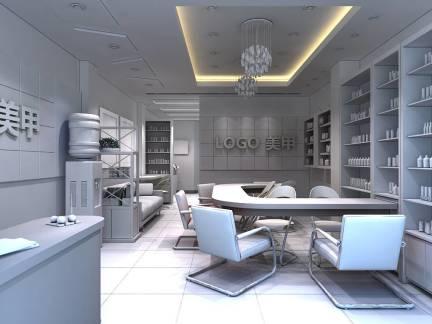 白色现代简约风格客厅吊顶效果图