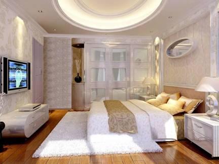 优雅米色欧式风格卧室吊顶装修美图