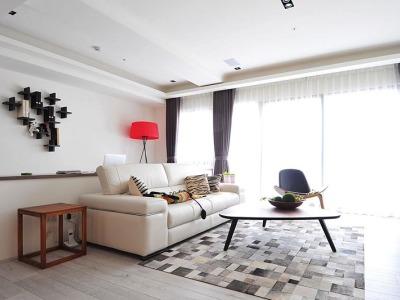 台式风格-110.96平米三居室装修样板间
