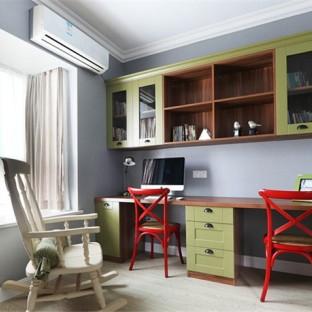 欧美风情三居室书房装修效果图