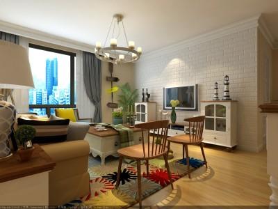 欧美风情-103平米三居室装修样板间