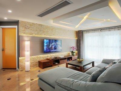 现代简约-107平米三居室装修样板间
