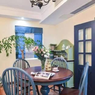 地中海风格三居室餐厅装修效果图