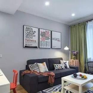 混搭风格一居室客厅装修效果图