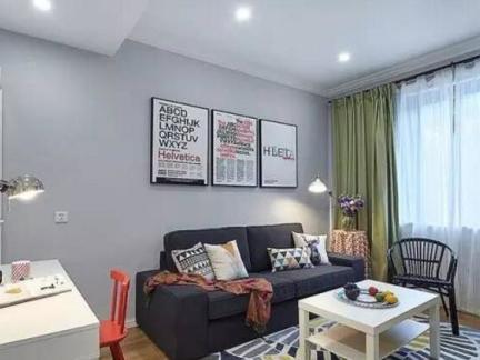 混搭风格-72平米一居室整装装修样板间