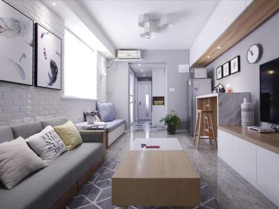 现代简约-42.16平米一居室装修样板间