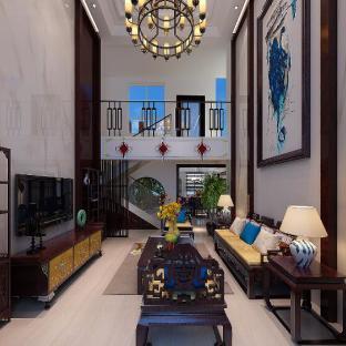 中式风格五居室客厅装修效果图