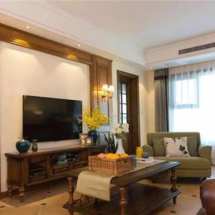 西式古典三居室客厅装修效果图