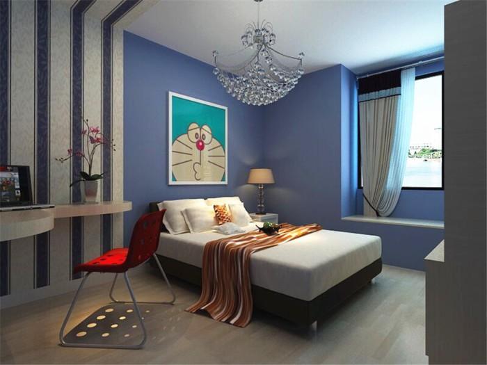 工业风格-106平米三居室-装修样板间