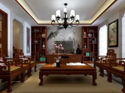 中式风格-453.98平米五居室整装装修样板间