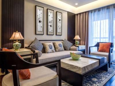 中式古典-90平米二居室整装装修样板间