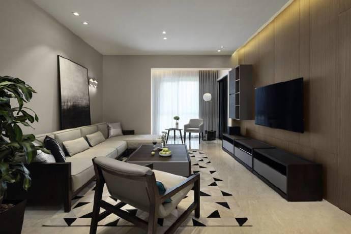 现代简约-97平米三居室整装-装修样板间
