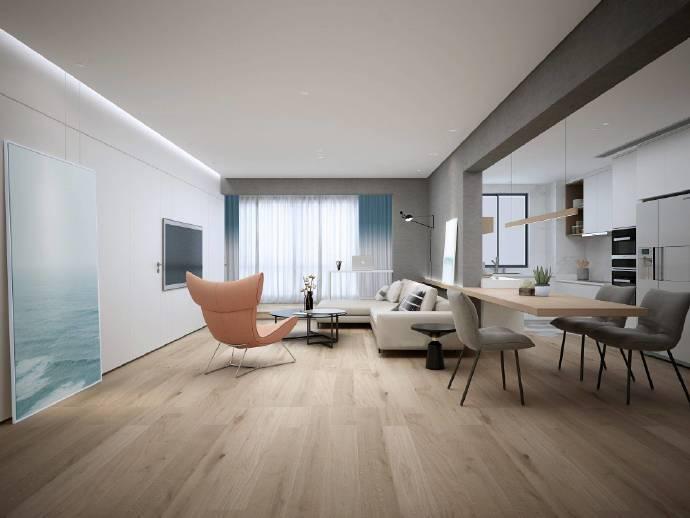 现代简约-115平米二居室整装-装修样板间