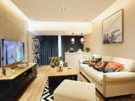 现代简约-136平米三居室整装装修样板间