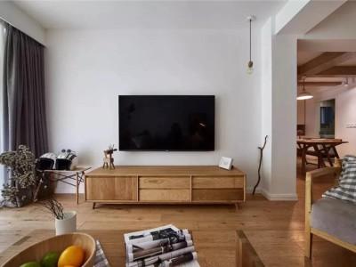极简原木风-208平米五居室装修样板间