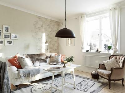 北欧风格-50平米一居室整装装修设计