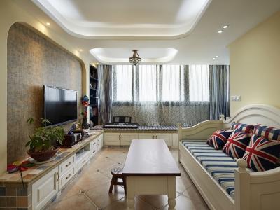 地中海风格-88平米二居室整装装修设计