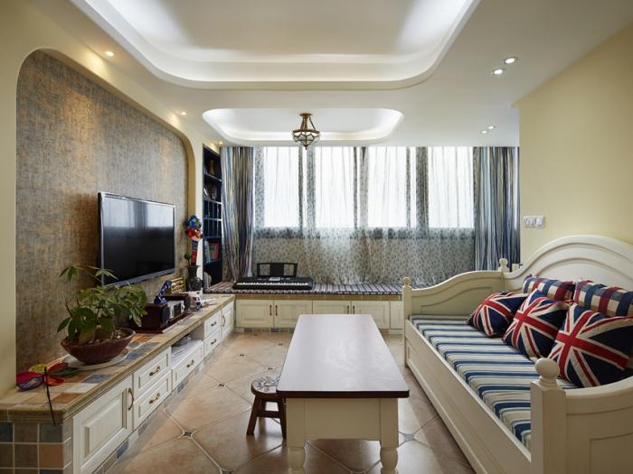 地中海风格-88平米二居室整装-装修设计