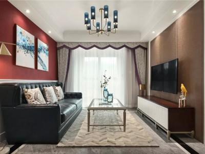 现代美式婚房-105平米二居室装修样板间