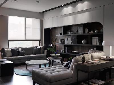 后现代风格-180平米四居室装修样板间