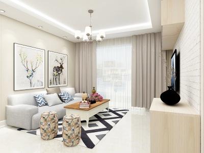 现代简约-95平米二居室整装装修设计