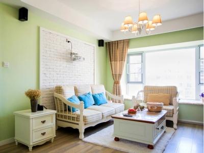 田园风格-82.31平米二居室整装装修设计