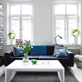 惬意北欧风 58平一居室蓝白清新公寓