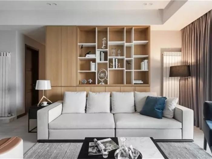现代极简风-129平米三居室-装修样板间