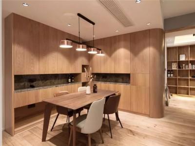 温馨原木风-93平米二居室装修样板间