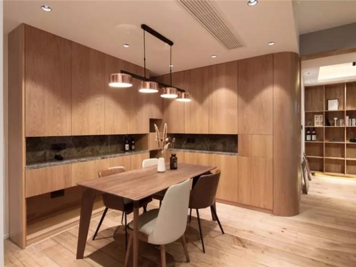温馨原木风-93平米二居室-装修样板间