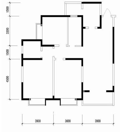 混搭风格-124平米三居室整装-装修样板间