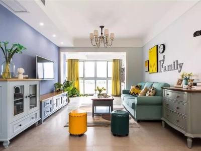 现代美式风-66平米二居室装修样板间