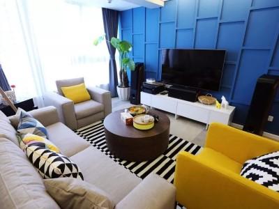 现代简约-93.06平米二居室装修样板间