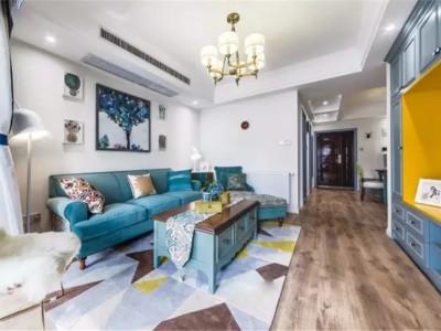 舒适美式风-99平米三居室装修样板间