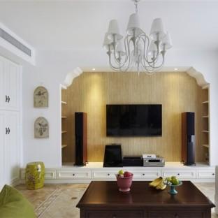 田园风格一居室客厅装修效果图