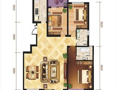 现代简约-125.6平米三居室整装装修样板间