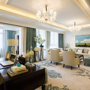 欧美风情五居室客厅装修效果图