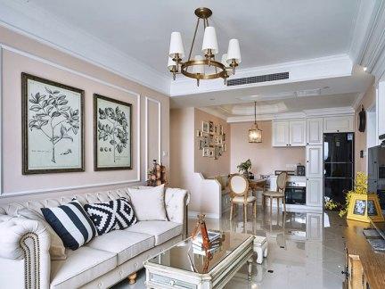 素雅美式三居客厅装修效果图