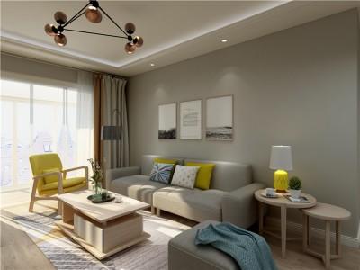 现代简约-88平米二居室整装装修样板间
