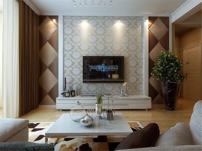 现代简约-107平米二居室装修样板间