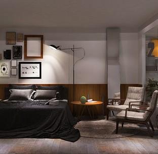 现代简约五居室卧室装修效果图