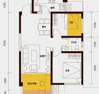 美式风格-76平米二居室装修样板间