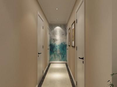欧美风情-97平米三居室装修样板间
